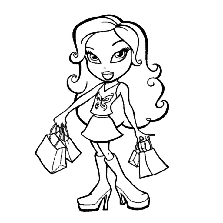 Bratz 0007 1000x1000 Kid PrintablesAdult ColoringColoring Pages AnimationColoring