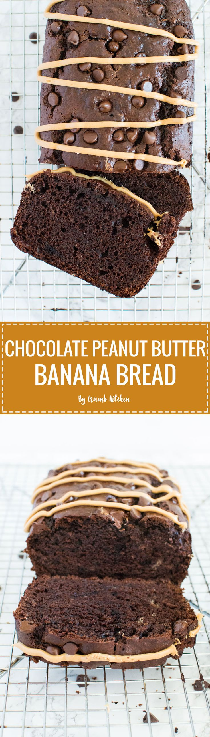 Pure cocoa and just-melted peanut butter turn typical banana bread into this indulgent, cake-like Chocolate Peanut Butter Banana Bread. | crumbkitchen.com
