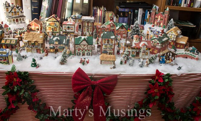 Christmas Village Ideas from Marty's Musings .net