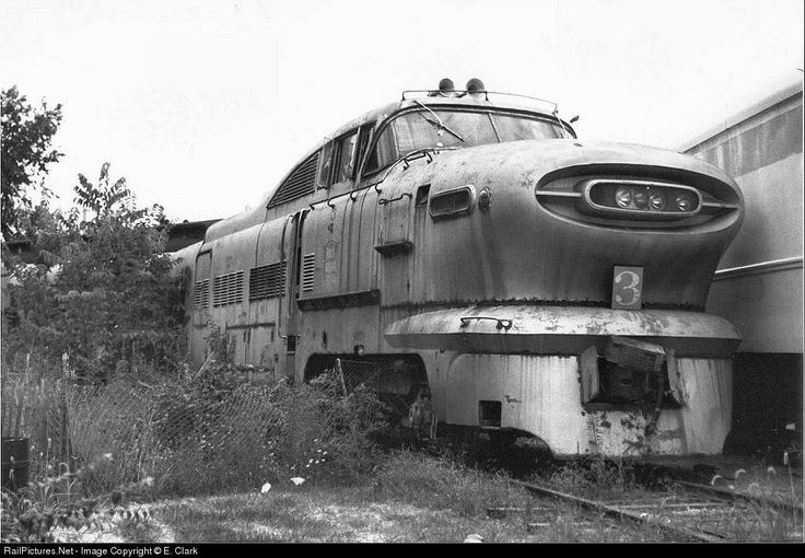 GM Aerotrain - Rust in peace.  This is so painfull, I remember when it was brand new and on display on the Chicago Lake Front at the General Motors Powerama.  EMD had two displays, one a oil rig powered by our 567C engine, and the Aerotrain, which I was assigned to answer questions from the public.