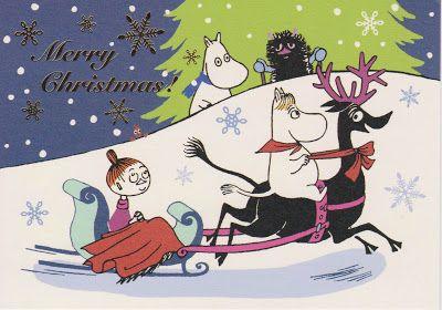 ムーミンのクリスマスカード
