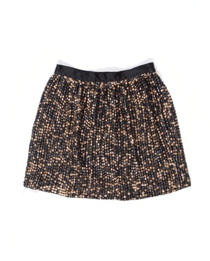 Mixed Gold Sequined Skirt