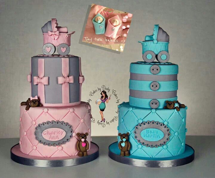 Cake Ideas For Boy And Girl : 30 best cake ideas for the twins images on Pinterest ...