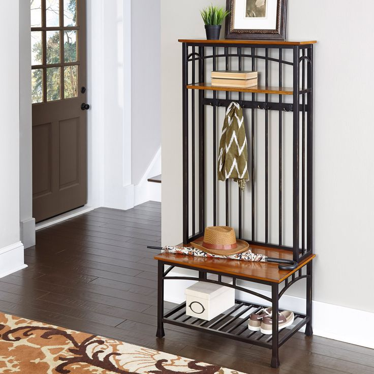 Home Styles Modern Craftsman Hall Tree | from hayneedle.com