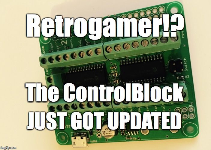 The driver of the ControlBlock got updated! What does this mean for you? More functionalities! New Functionalities 4-player support: Stack two ControlBlocks on top of each other for 4-player installation. Genesis/Megadrive controller support: Use Genesis/Megadrive (TM) controller with the ControlBlock for really nostalgic Sega gaming sessions. Custom shutdown script: Call arbitrary Bash scripts on shutdown Reset button… Continue reading