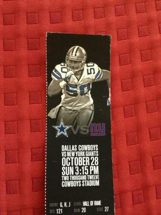 """Bid to win this Dallas Cowboy football game ticket.... donation supports """"Bringing Home The Browns"""""""