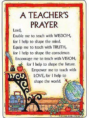 Teachers Prayer