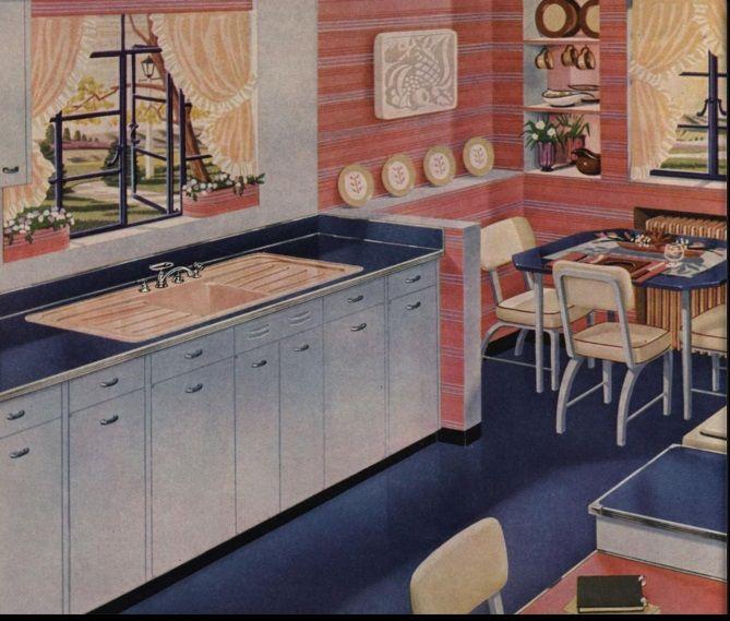 1945. 1940s KitchenKitchen DesignsKitchen Dining Part 88
