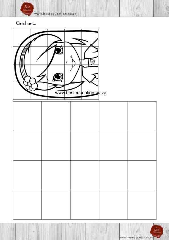 Grid art Grade 5 Art - www.besteducation.co.za