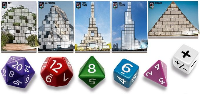 Roll to the Top!  This looks exciting! 2 to 5 climbers race to complete their climbing challenge. Use the different dice (4, 6, 8, 12, 20 sided) smartly! https://www.kickstarter.com/projects/cwali/roll-to-the-top  #Boardgames #Kickstarter