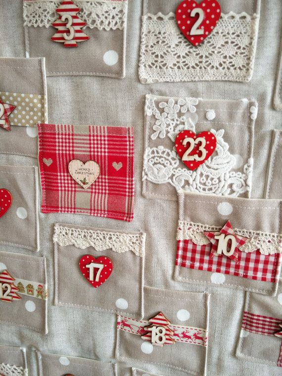 Handmade Fabric Christmas Advent Calendar by TheLittleFabricStall