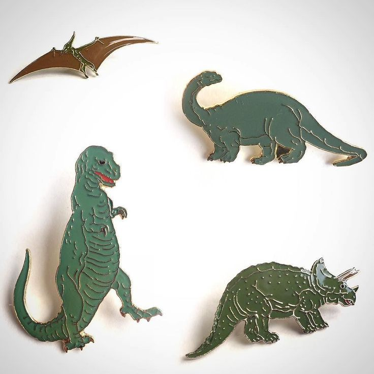 #Repost @by_wayside Do the Dinosaur!! 90s rare vintage pins up on our etsy site…