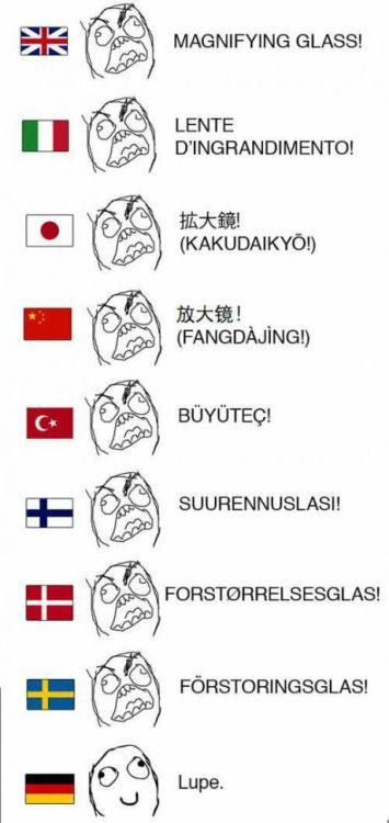 """because of """"German language – heavy language"""" …"""