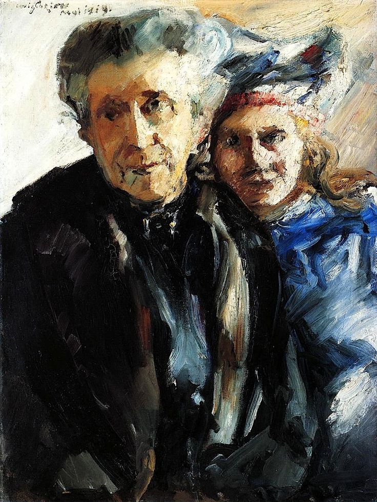 Grandmother and Granddaughter - Lovis Corinth - 1919