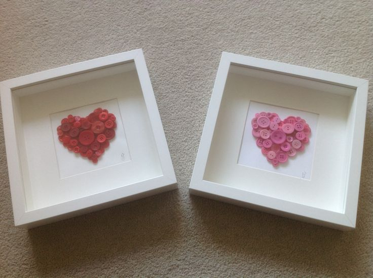 Heart Button Art. Great for someone special, valentines day, engagements and weddings
