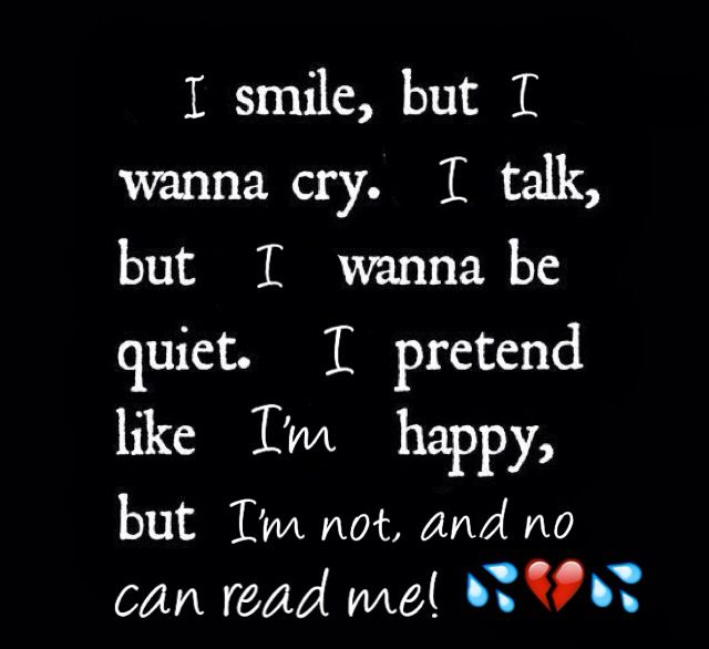 Emotional Pain Quotes: It's Scary What A Smile Can Hide! Depression Grief Sadness