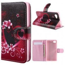 Sony Xperia Z5 Compact sydän puhelinlompakko.