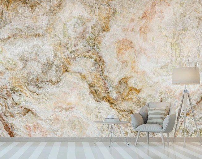 Natural Abstract Gold Marble Wallpaper Wall Murals Etsy Marble Wallpaper Gold Marble Wallpaper Wall Wallpaper
