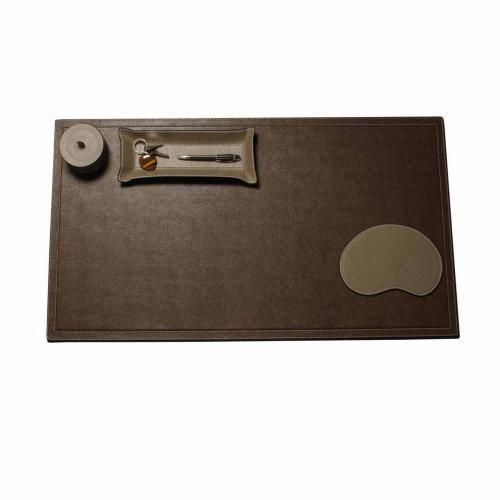 Schreibtischauflage XL Braun