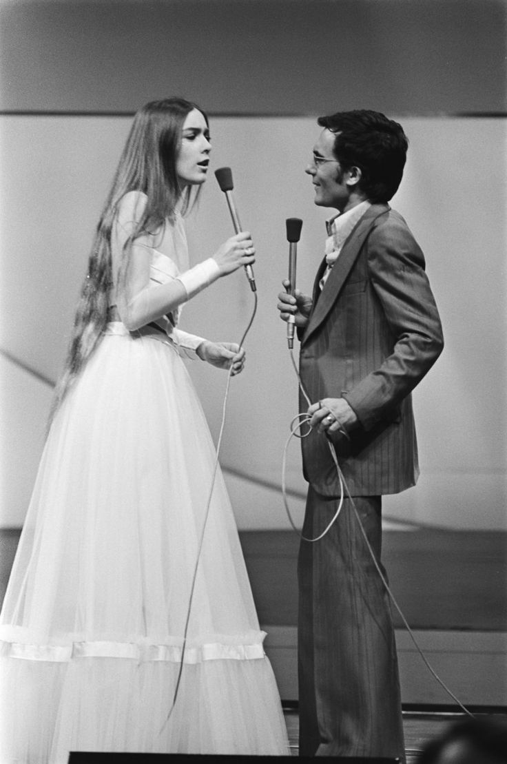Al Bano & Romina Power at the Eurovision Song Contest 1976