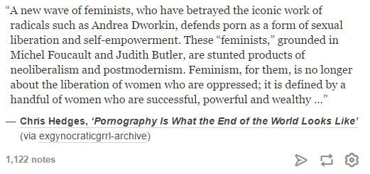 Chris Hedges, Pornography is What the End of the World Looks Like  - violence against women - neo-liberal feminism - radical feminism - anti-porn - second wave