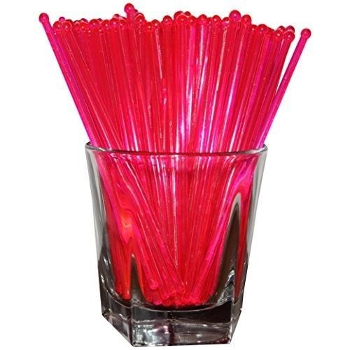 Plastic Swizzle Sticks Stirrers Set Party Drinks Cocktails Mixing Pink 48 Count  #SwizzleSticks