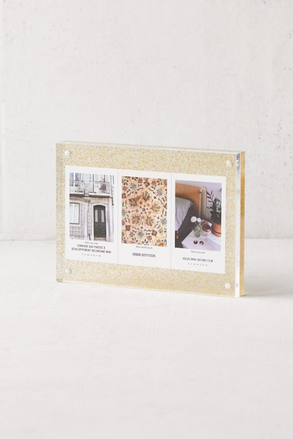 ff40a09512cc Slide View  2  Glitter Mod Magnetic Acrylic Block Picture Frame