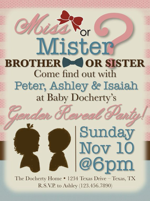 Customizable Vintage Gender Reveal Party by PrintablesByAshley, $10.00