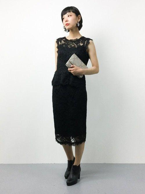 ZOZOTOWNambiさんのドレス「【結婚式・お呼ばれ対応・セットアップ】Virca / Luxe brille レースワンピースライクセットアップ(Dorry Doll|ドーリードール)」を使ったコーディネート