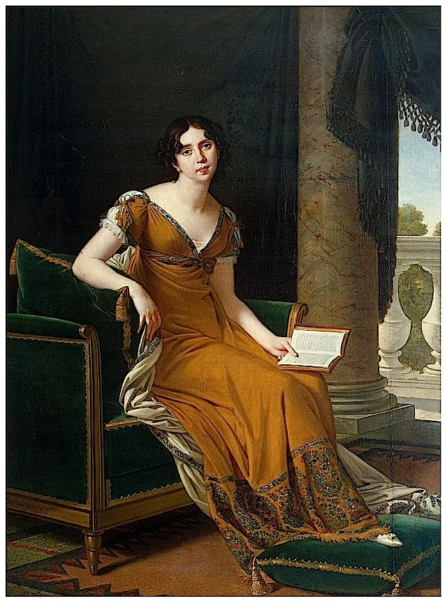 1800-1805 Baroness Elisabeth Alexandrovna Stroganoff by Robert Lefèvre (Hermitage) Dress made from a Cashmir shawl.