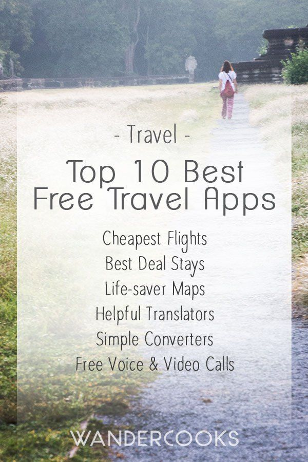 Top 10 Best Free Travel Apps - Find the best and cheapest deals on flights and accommodation and get the best apps to stay in touch or order a meal in the native language! | wandercooks.com