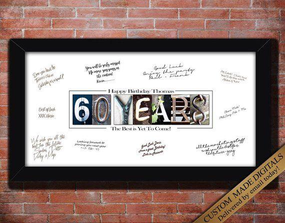 60 Year 60th Birthday Gift Men Women PERSONALIZE