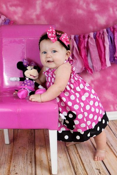 Girls Minnie Mouse Birthday Dress, Girls First Birthday Minnie Mouse Dress, Birthday Dress, Minnie Mouse Dress, 1st, 2nd Birthday
