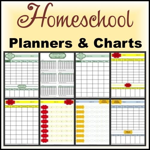 Homeschooling Planners and Charts printables
