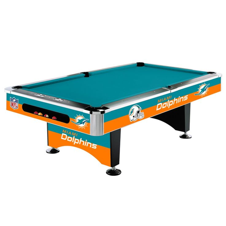 Miami Dolphins 8Ft Pool Table By Imperial