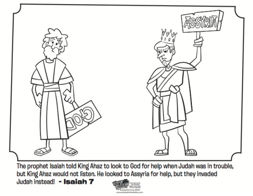 Isaiah And Ahaz Coloring Page