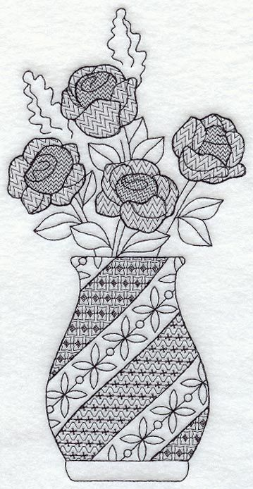 www.emblibrary.com, Rose Vase (Blackwork) as of 27 Aug 13 - $3.99USD