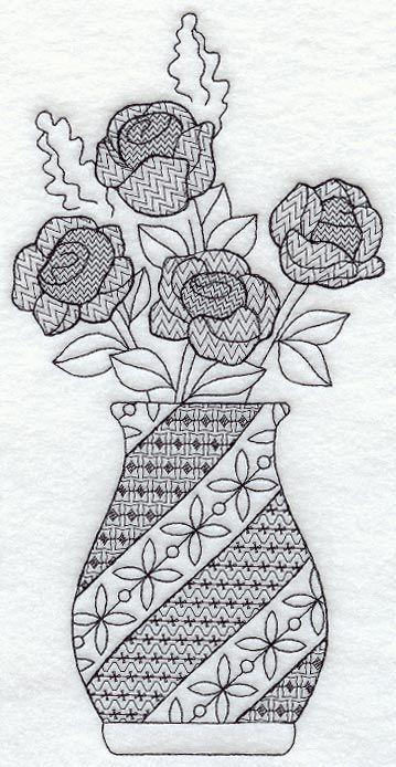 www.emblibrary.com, Rose Vase (Blackwork) as of 27 Aug 13 - $3.99USD