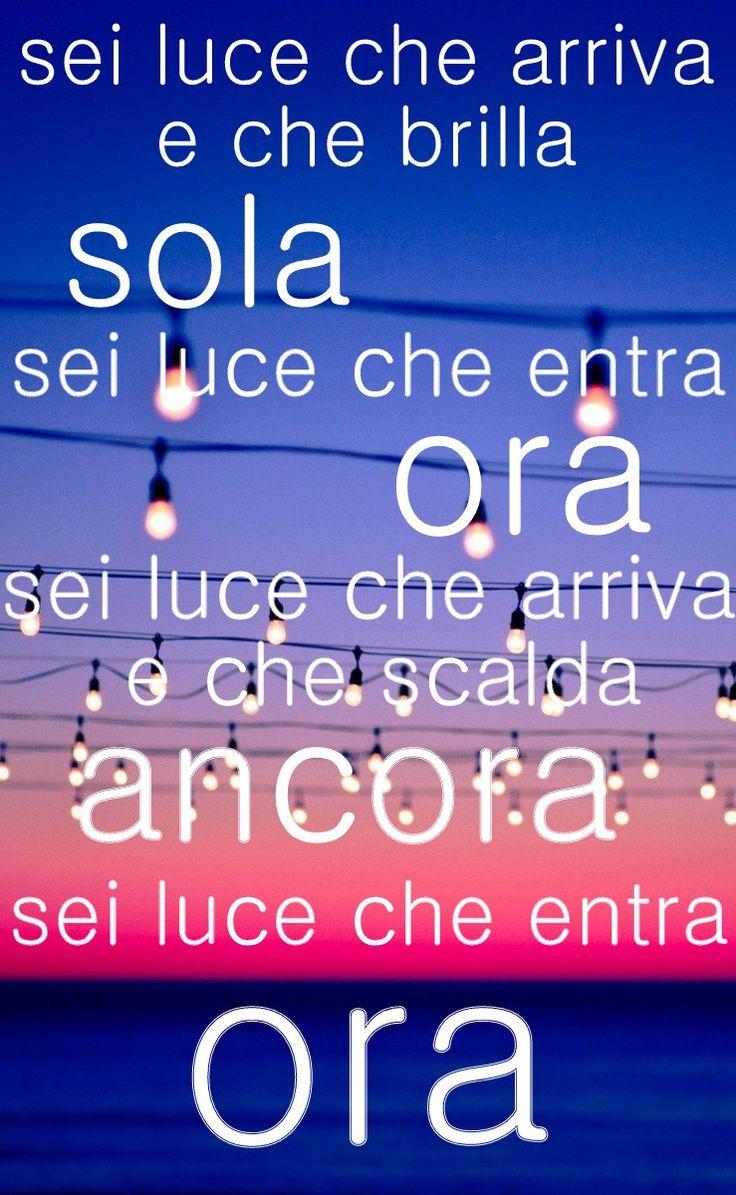 Luce che entra❤ #Testo #Lorenzo