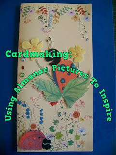A Pretty Talent Blog: Cardmaking: Using An Old Almanac For Inspiration