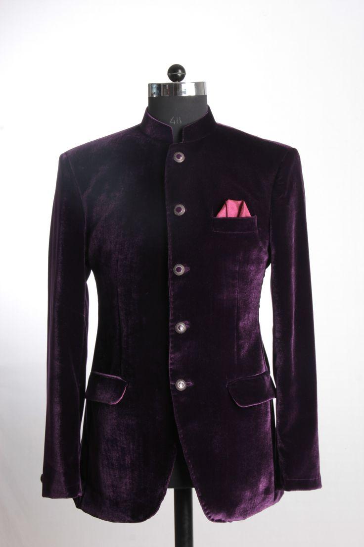 Velvet purple Jacket