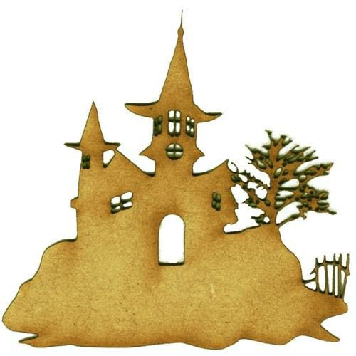 Haunted House on The Hill - MDF Wood Scene