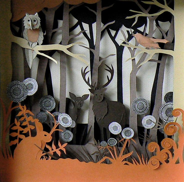 Paper diorama!  helenmusselwhite3