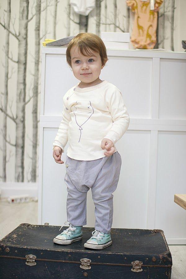 wwww.galazki.pl Organic ZOO Bye bye balloon sweatshirt Minimu chic for kids Bonnet pants