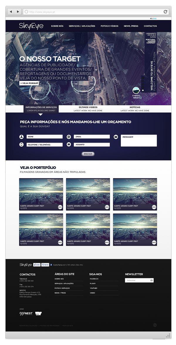 Skyeye - Official Website by Joel Filipe, via Behance
