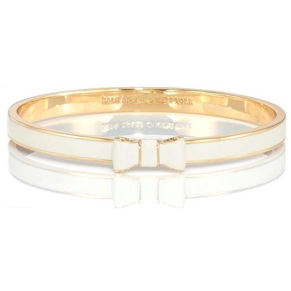 Kate Spade Take A Bow Bangle found on Polyvore featuring jewelry, bracelets, hinged bangle, bracelets & bangles, kate spade jewelry, polish jewelry and bangle jewelry