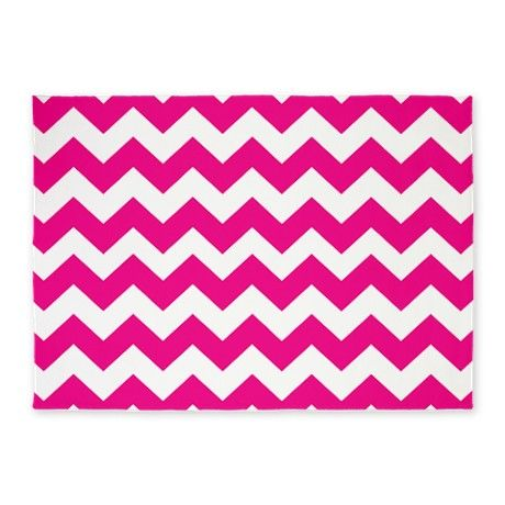 Hot Pink Chevron 5 X7 Area Rug