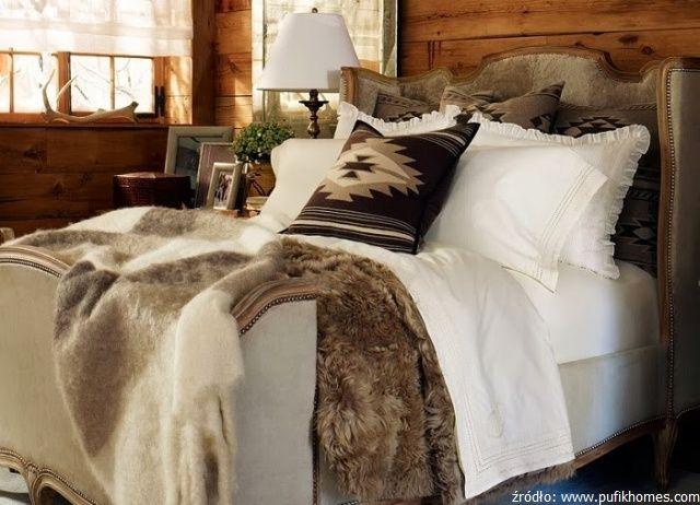 Sypialnia w stylu chalet