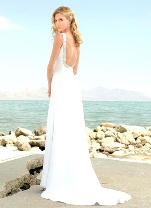 vintage lace backless wedding dress