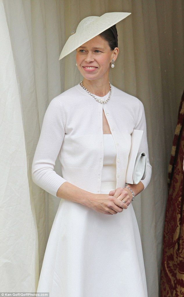 'With no agenda, no particular ambitions or feeling of being slighted, Sarah has been happy to take a back seat in royal position jostling,' says one royal insider. Pictured: Lady Sarah attends a Sunday church service at Windsor Castle to mark Prince Philip's 90th birthday